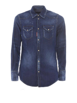 Dsquared2: shirts - Western jeans shirt