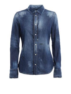 Dsquared2: shirts - Worn out denim shirt