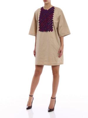 Dsquared2: short coats online - Ruffled bib tunic dress