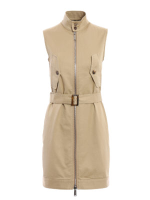Dsquared2: short dresses - Cotton gabardine dress