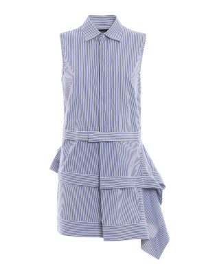 Dsquared2: short dresses - Flounced asymmetric striped dress