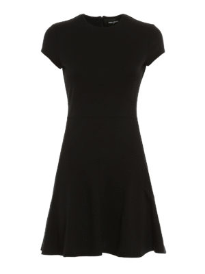 Dsquared2: short dresses - Knitted wool blend fitted dress