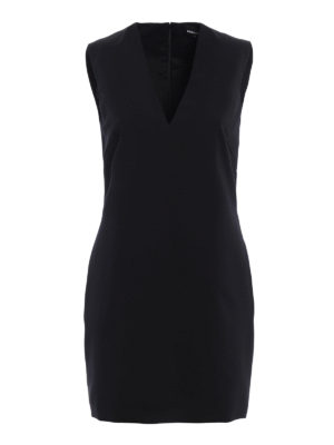 Dsquared2: short dresses - Lightweight wool sheath dress