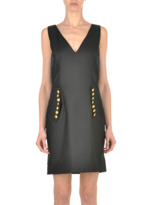 Dsquared2: short dresses online - Button detailed wool and silk dress
