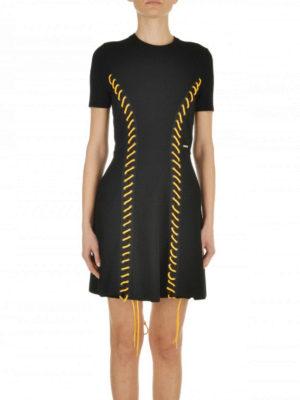 Dsquared2: short dresses online - Coloured laces dress