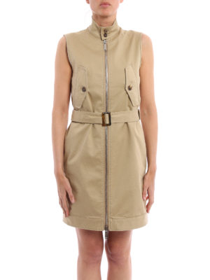 Dsquared2: short dresses online - Cotton gabardine dress