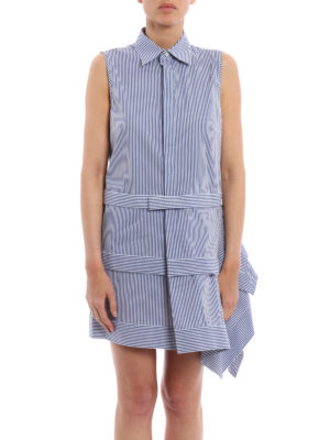 Dsquared2: short dresses online - Flounced asymmetric striped dress