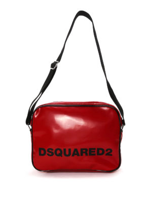 Dsquared2: shoulder bags - Faux leather logo postman bag