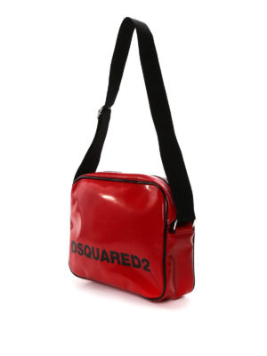 Dsquared2: shoulder bags online - Faux leather logo postman bag