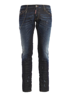 Dsquared2: skinny jeans - Clement stone washed jeans