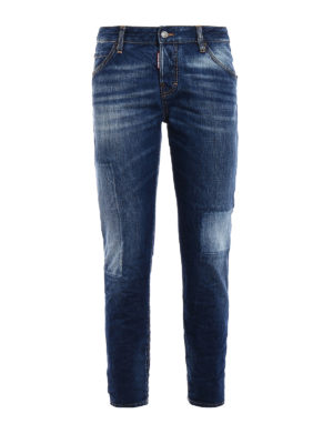 Dsquared2: skinny jeans - Cool Girl long crotch jeans