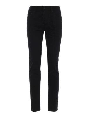 DSQUARED2: jeans skinny - Jeans neri Cool Guy a vita bassa