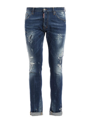 Dsquared2: skinny jeans - Cool Guy scraped denim jeans