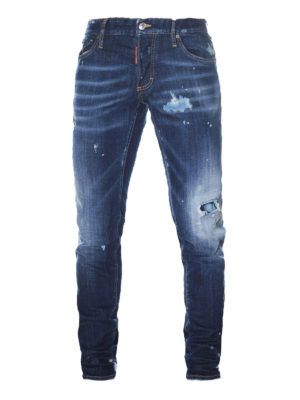 Dsquared2: skinny jeans - Destroyed bleached denim jeans