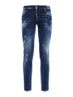 Dsquared2: skinny jeans - Distressed denim jeans