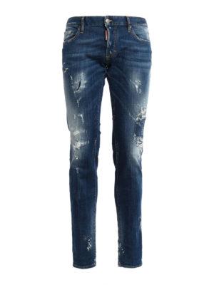 Dsquared2: skinny jeans - Distressed denim Slim jeans