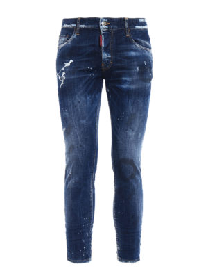 Dsquared2: skinny jeans - Distressed skinny jeans