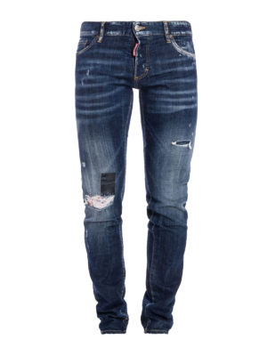 Dsquared2: skinny jeans - Distressed stone washed denim jeans