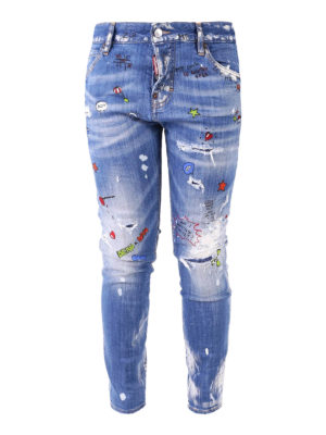 Dsquared2: skinny jeans - Light Baby Prints Cool Girl Jeans