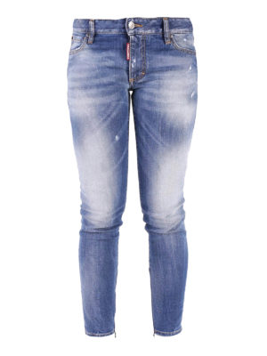 Dsquared2: skinny jeans - Light Medium Waist Twiggy Jeans