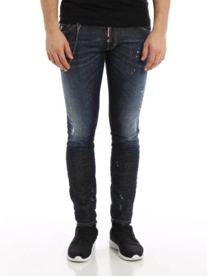 Dsquared2: skinny jeans online - Clement stone washed jeans