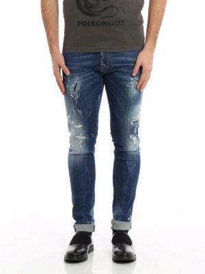 Dsquared2: skinny jeans online - Cool Guy scraped denim jeans