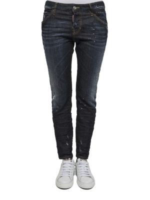 Dsquared2: skinny jeans online - Dark wash denim jeans