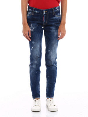 Dsquared2: skinny jeans online - Distressed denim jeans