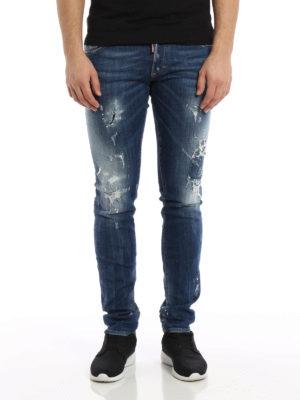 Dsquared2: skinny jeans online - Distressed denim Slim jeans