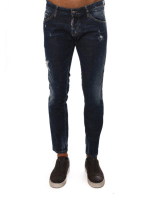 Dsquared2: skinny jeans online - LOW RISE DISTRESSED JEANS