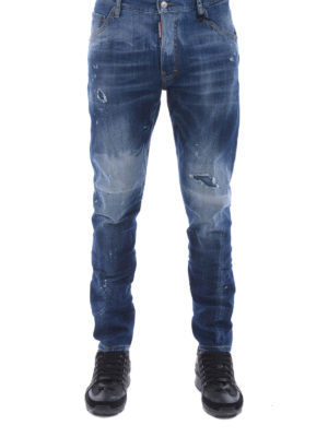 Dsquared2: skinny jeans online - Sexy Twist faded jeans