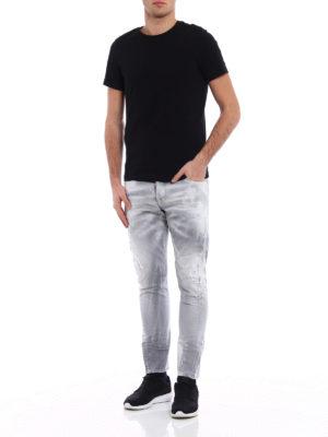 Dsquared2: skinny jeans online - Sexy Twist light grey denim jeans