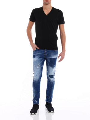 Dsquared2: skinny jeans online - Sexy Twist light wash jeans