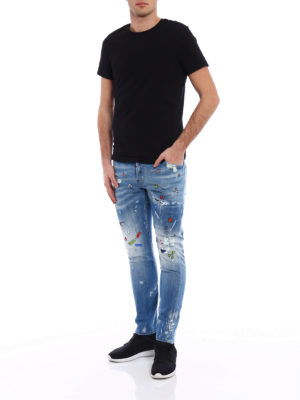 Dsquared2: skinny jeans online - Sexy Twist printed low rise jeans
