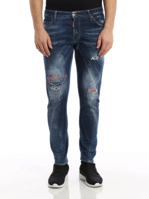 Dsquared2: skinny jeans online - Sexy Twist washed distressed jeans