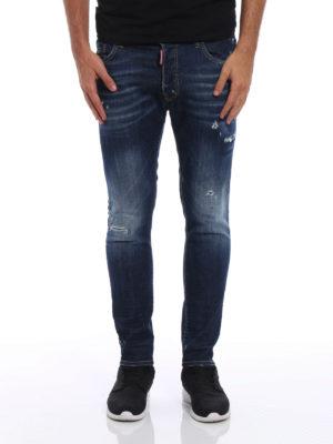 Dsquared2: skinny jeans online - Skater used effect jeans
