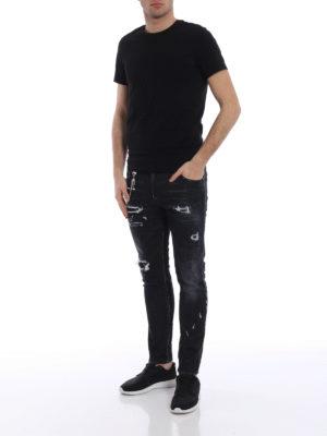 Dsquared2: skinny jeans online - Skater used effect skinny jeans