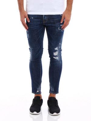 Dsquared2: skinny jeans online - Skater worn out denim jeans