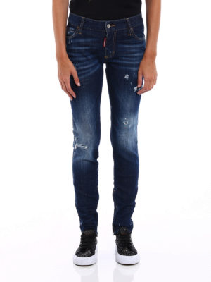 Dsquared2: skinny jeans online - Skinny jeans with varnish spots