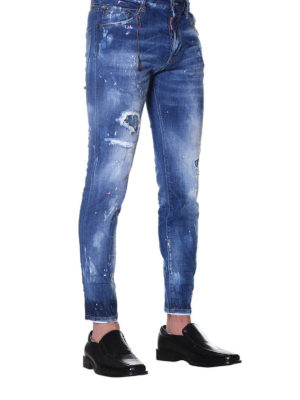 Dsquared2: skinny jeans online - Skinny spotted jeans