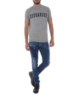 Dsquared2: skinny jeans online - Slim faded jeans