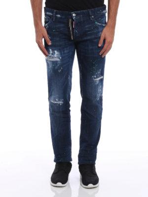 Dsquared2: skinny jeans online - Slim Jean worn out denim jeans