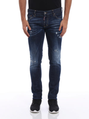 Dsquared2: skinny jeans online - Slim used effect jeans