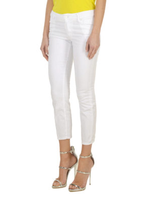 Dsquared2: skinny jeans online - Stretch cotton crop jeans