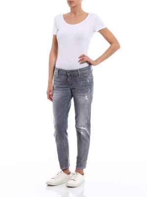Dsquared2: skinny jeans online - Super Skinny grey denim jeans
