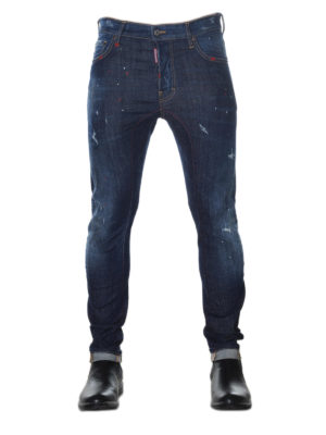 Dsquared2: skinny jeans online - Tidy Biker Fit distressed jeans