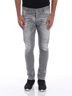 Dsquared2: skinny jeans online - Tidy Biker used effect jeans