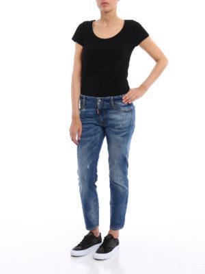 Dsquared2: skinny jeans online - Twiggy scraped crop jeans