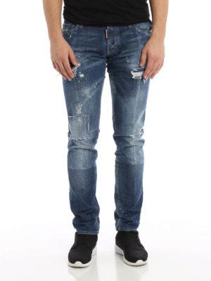 Dsquared2: skinny jeans online - Worn out denim Slim jeans
