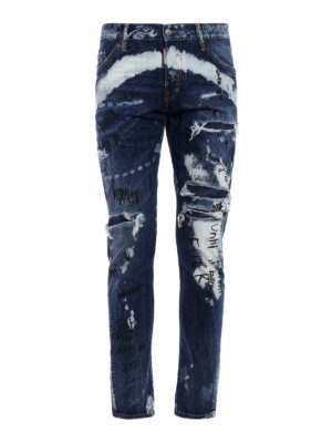 Dsquared2: skinny jeans - Sexy Twist used effect jeans